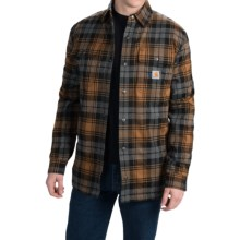 Carhartt Hubbard Sherpa-Lined Shirt Jacket - Snap Front (For Men) in Carhartt Brown - Closeouts