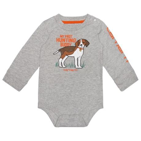 Carhartt Hunting Buddy Baby Bodysuit - Long Sleeve (For Infants) in Grey