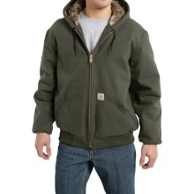 Carhartt Huntsman Active Jacket - Insulated and Flannel Lined (For Men) in Moss - 2nds