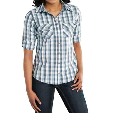 Carhartt Huron Shirt - Roll-Up 3/4 Sleeve (For Women) in Dark Blue - Closeouts