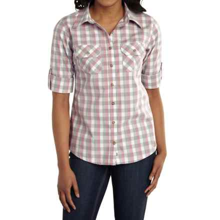 Carhartt Huron Shirt - Roll-Up 3/4 Sleeve (For Women) in Lilas - Closeouts