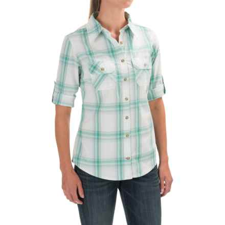 Carhartt Huron Shirt - Roll-Up 3/4 Sleeve (For Women) in Spearmint - Closeouts
