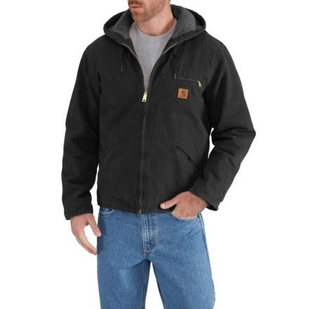 1a9fe0715b Carhartt J141 Sierra Jacket - Sherpa Lining, Factory Seconds (For Men) in  Black