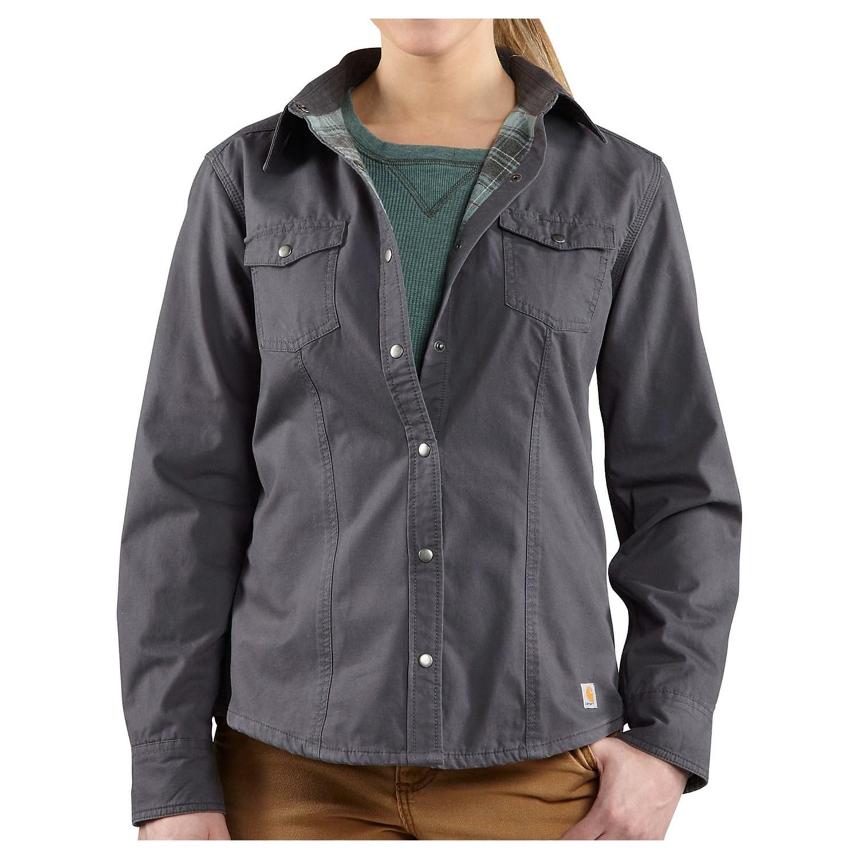 Carhartt Jackson II Shirt Jacket - Flannel Lining (For Women) in Coal - 2nds