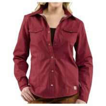 Carhartt Jackson II Shirt Jacket - Flannel Lining (For Women) in Dark Red - 2nds