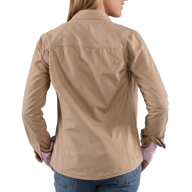 6311D_2 Carhartt Jackson Shirt Jacket - Flannel-Lined, Long Sleeve (For Women