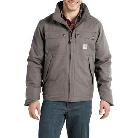 Carhartt Jefferson Quick Duck Traditional Jacket - Factory Seconds (For Big and Tall Men) in Charcoal - 2nds