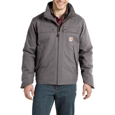 Carhartt Jefferson Quick Duck Traditional Jacket - Insulated, Factory Seconds (For Men) in Charcoal - 2nds