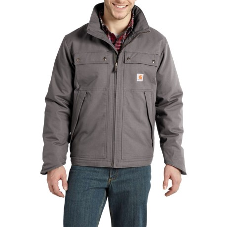 Carhartt Jefferson Quick Duck Traditional Jacket - Insulated, Factory Seconds (For Men) in Charcoal