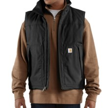 Carhartt Jefferson Quick Duck Vest (For Big and Tall Men) in Black - 2nds