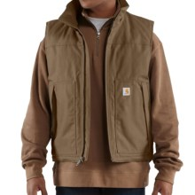 Carhartt Jefferson Quick Duck Vest (For Men) in Canyon Brown - 2nds