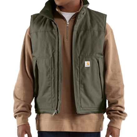 Carhartt Jefferson Quick Duck Vest (For Men) in Olive - 2nds