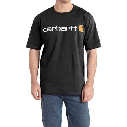 Carhartt Jersey Knit Logo T-Shirt - Short Sleeve (For Men) in Black - 2nds
