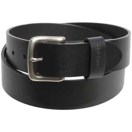 Carhartt Journeymen Leather Belt (For Men) in Black - Closeouts
