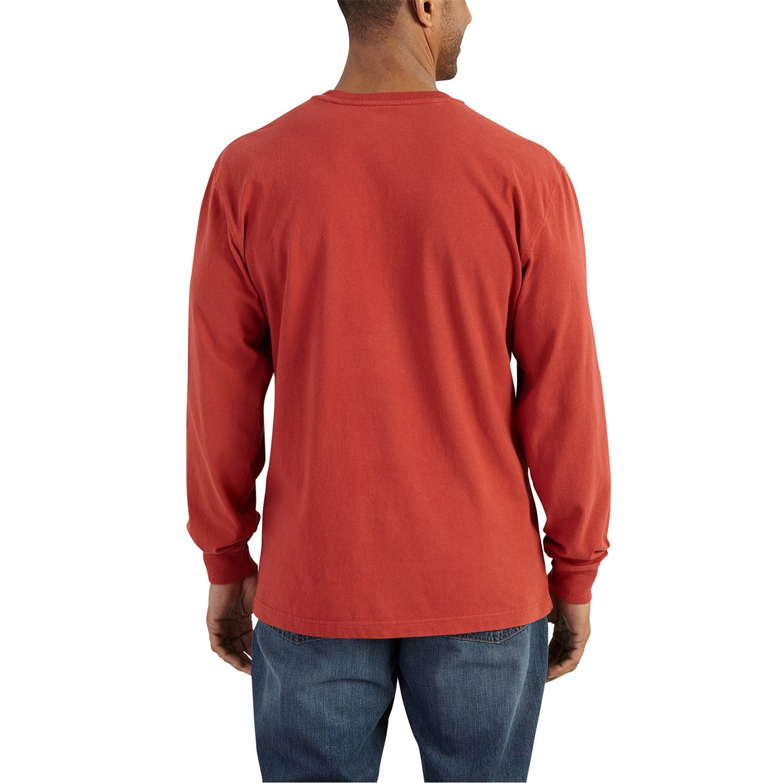 75dc5f48 ... 726WK_2 Carhartt K128 Workwear Pocket Henley Shirt - Long Sleeve (For  Men)