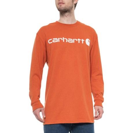 e6eb6989c0c1 Carhartt K298 Signature Logo T-Shirt - Long Sleeve (For Big and Tall Men