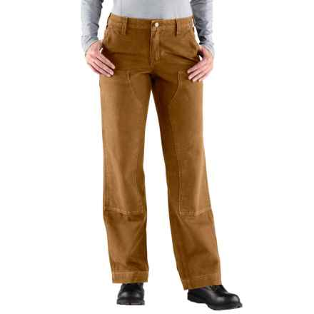 Carhartt Kane Canvas Jeans - Dungarees, Double Front, Relaxed Fit (For Women) in Carhartt Brown - 2nds