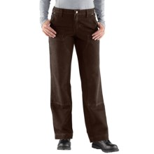 Carhartt Kane Canvas Jeans - Dungarees, Double Front, Relaxed Fit (For Women) in Dark Brown - 2nds