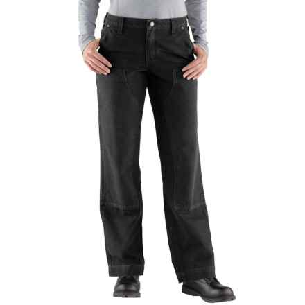 Carhartt Kane Double-Front Dungaree Jeans - Relaxed Fit, Factory Seconds (For Women) in Black - 2nds