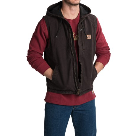Carhartt Knoxville Hooded Vest - Fleece Lined, Factory Seconds (For Men) in Dark Brown
