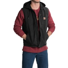 Carhartt Knoxville Hooded Vest - Fleece Lined (For Men) in Black - 2nds