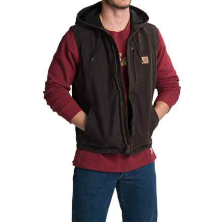 Carhartt Knoxville Hooded Vest - Fleece Lined (For Men) in Dark Brown - 2nds