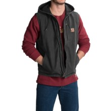 Carhartt Knoxville Hooded Vest - Fleece Lined (For Men) in Shadow - 2nds