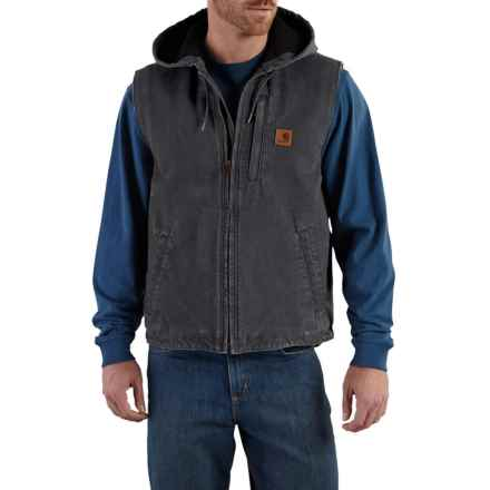 Carhartt Knoxville Sandstone Hooded Vest - Factory Seconds (For Big and Tall Men) in Shadow - 2nds