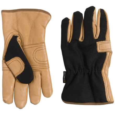 Carhartt Lady Driver Gloves - Fleece Lined (For Women) in Black Barley - Closeouts