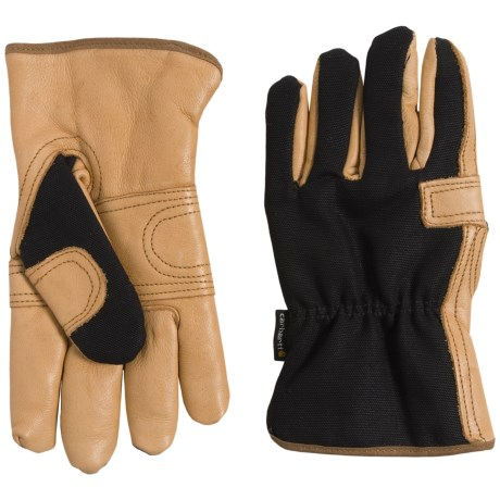 Carhartt Lady Driver Gloves - Fleece Lined (For Women) in Black Barley