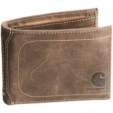 Carhartt Leather Bi-Fold Pass Case Wallet in Brown - Closeouts