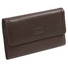 Carhartt Leather Checkbook Clutch (For Women) in Dark Brown - Closeouts