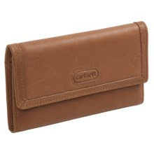 Carhartt Leather Checkbook Clutch (For Women) in Tan - Closeouts