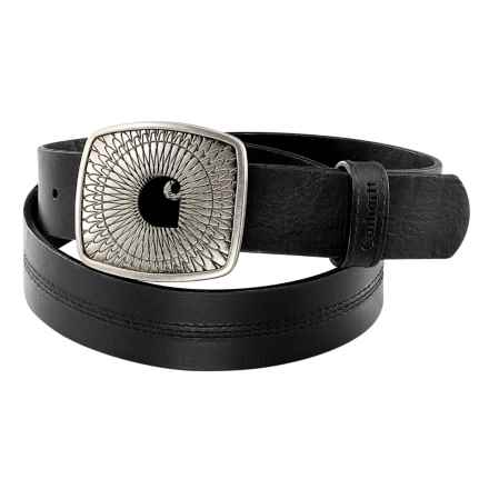 Carhartt Leather Logo Belt (For Women) in Black - Closeouts