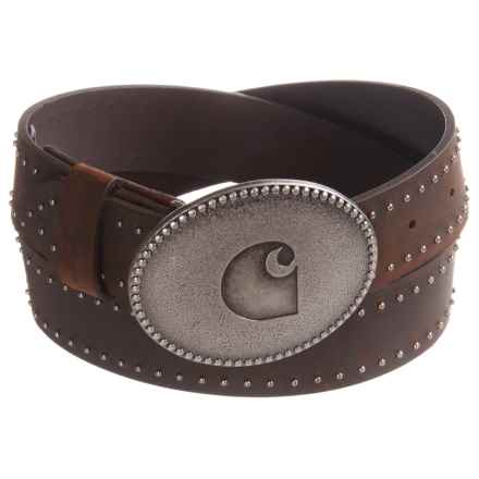 Carhartt Leather Logo Belt (For Women) in Brown - Closeouts