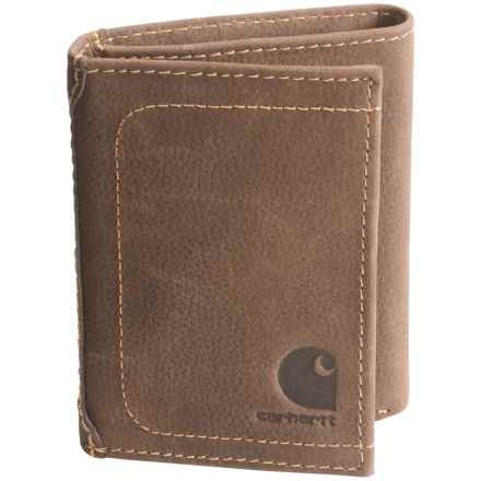 Carhartt Leather Tri-Fold Wallet in Brown - Closeouts