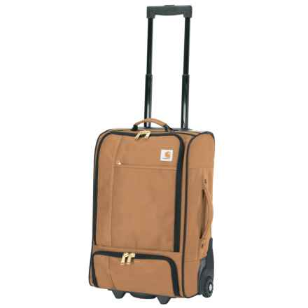 "Carhartt Legacy Gear Traveler Carry-On Rolling Suitcase - 21"" in Carhartt Brown - Closeouts"
