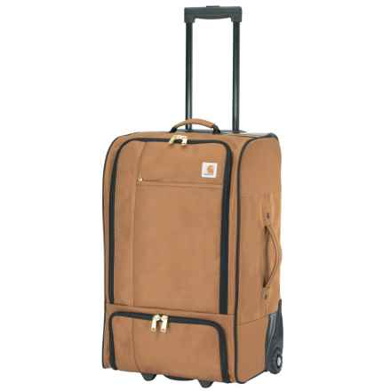 """Carhartt Legacy Wheeled Gear Traveler Rolling Suitcase - 28"""" in Carhartt Brown - Closeouts"""