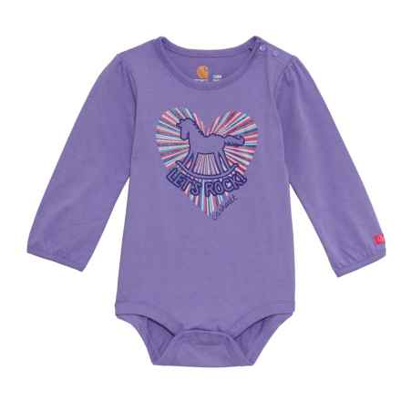 Carhartt Let's Rock Bodysuit - Long Sleeve (For Infants) in Purple - Closeouts