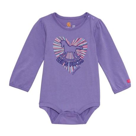 Carhartt Let's Rock Bodysuit - Long Sleeve (For Infants) in Purple