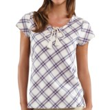 Carhartt Libby Plaid Shirt - Tie Neck, Short Sleeve (For Women)