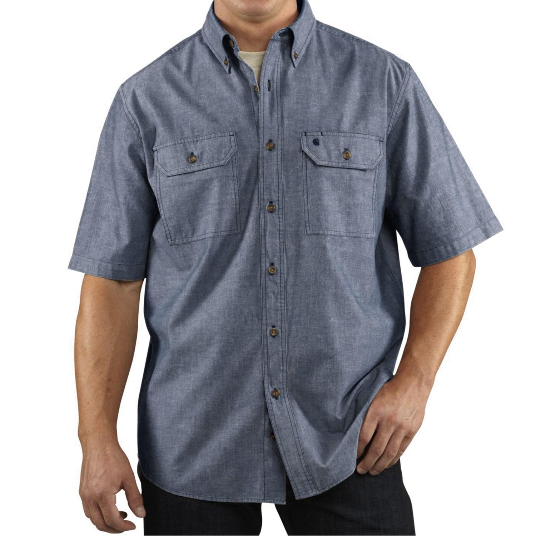 Carhartt Lightweight Chambray Shirt Cotton Short Sleeve