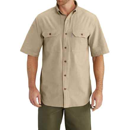 Carhartt Lightweight Chambray Shirt - Short Sleeve, Factory Seconds (For Big Men) in Dark Tan Chambray - 2nds