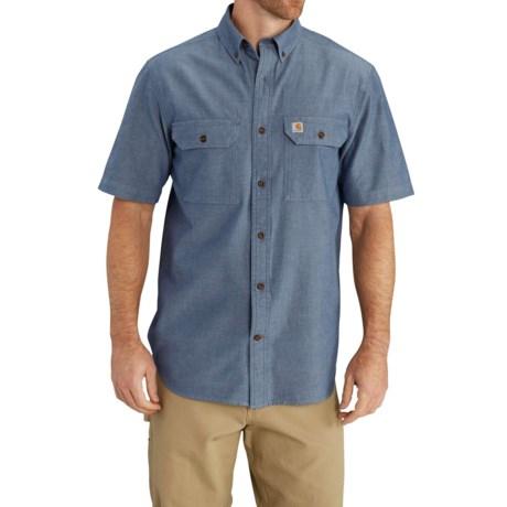 Carhartt Lightweight Chambray Shirt - Short Sleeve, Factory Seconds (For Big Men)