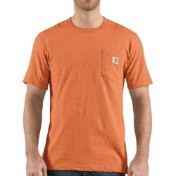 Carhartt Lightweight Contractor's Work Pocket T-Shirt - Short Sleeve (For Men) in Bisque Heather