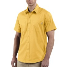 Carhartt Lightweight Cotton Shirt - UPF 30+, Short Sleeve (For Men) in Sun Yellow - Closeouts