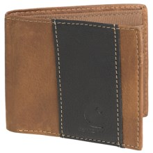 Carhartt Lightweight Passcase Wallet - Full-Grain Leather in Brown - Closeouts