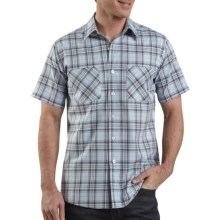 Carhartt Lightweight Plaid Shirt - Short Sleeve (For Men) in Blue Haze - 2nds