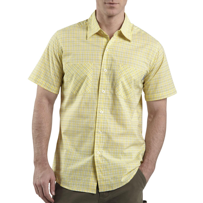 Carhartt lightweight plaid shirt short sleeve for men for Carhartt men s long sleeve lightweight cotton shirt