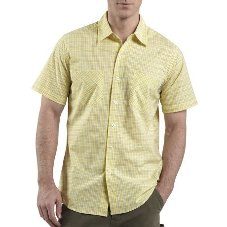 Carhartt Lightweight Plaid Shirt - Short Sleeve (For Men) in Light Sun